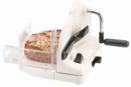 """WESTMARK Allesschneider """"Traditionell"""", Brotschneider, Wurstschneider, mit Restehalter, Edelstahl und Kunststoff weiß, 280 x 310 x 200 mm"""