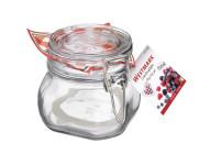 WESTMARK Drahtbügelglas, Einmachglas, Verschlussglas, 500 ml, mit Gummiring