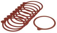 WESTMARK 10 Einkoch-Gummiringe, Glasgummiring, Naturkautschuk rot, 112 x 128 mm
