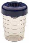 WESTMARK Mixbecher mit Zitronenpresse, Schüttelbecher, Shaker, 0,25 l Fassungsvermögen, durchsichtiger Kunststoff, 80 x 80 x 110 mm