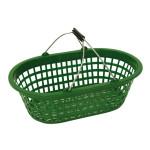 XCLOU GARDEN Gartenkorb, Kunststoffkorb, grün, oval, 15 kg