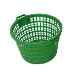 XCLOU GARDEN Gartenkorb, Kunststoffkorb, grün, rund, 25 kg
