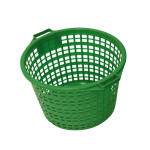 XCLOU GARDEN Gartenkorb, Kunststoffkorb, grün, rund, 50 kg