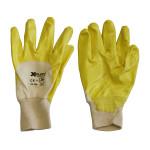 XCLOU GARDEN Nitril Universalhandschuh, gelb, mit Strickbund, Größe 7