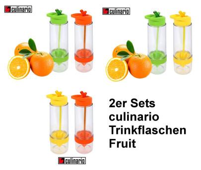 2er Set culinario Trinkflasche Fruit, BPA-frei, je 650 ml Inhalt, in verschiedenen Farben erhältlich