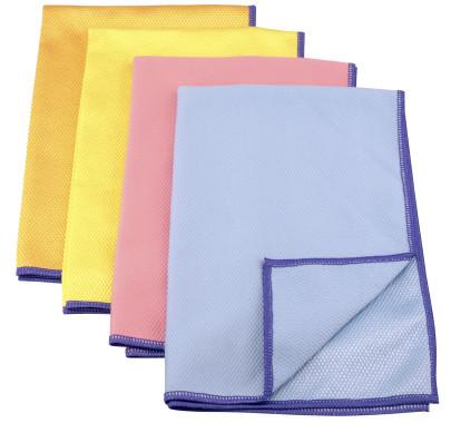 3 Stück purclean Microfasertuch BEKKO mit Schuppenstruktur, extra saugstark, 30% Polyamide, 60x40cm, in blau, orange, gelb oder rosa