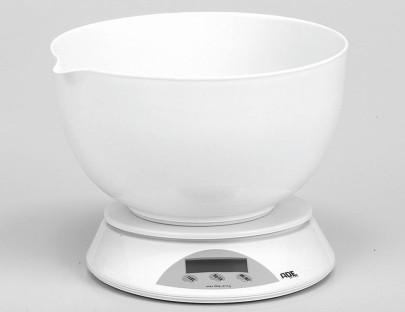 ADE Küchenwaage Angelina weiß Tragkraft 5 kg, Teilung 1 g