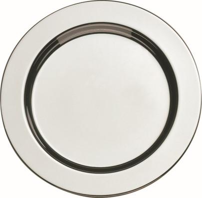 APS 6 Untersetzer rund ca. Durchmesser 11 cm 18/8 Edelstahl poliert Rand eingerollt