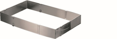 APS Backform ausziehbar ca. 19x28 - 34x54 cm, Höhe 5 cm aus flexiblem Edelstahl verstellbar m Einstellklammern
