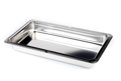 APS Behälter/Schale -Profi Line- GN 1/2 32,5 x 26,5 cm Höhe 4 cm, 2 Liter, stapelbar 18/10 Edelstahl poliert mit Stapelnocke