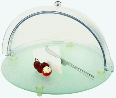 APS Büfett-Set 2-teilig, ca. Durchmesser 38 cm, Rolltophaube ca. Durchmesser 38 cm, Höhe 23 cm Kunststoff / Glas robust und praktisch