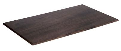 APS GN 1/1 Tablett -OAK- aus Melamin, 53 x 32,5 cm, Höhe 1 cm, Eichenoptik mit Antirutsch-Füßchen