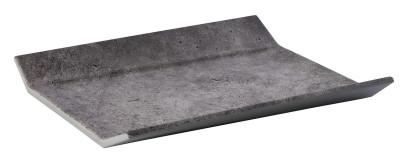 APS GN 1/2 Tablett -ELEMENT- aus Melamin, 32,5 x 26,5 cm, Höhe 3,5 cm, in Betonoptik, angehobene Seitenkanten, Servierplatte, Serviertablett