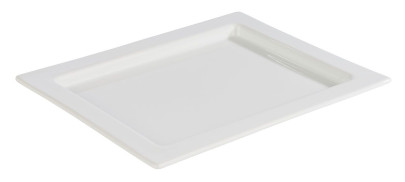 APS GN 1/2 Tablett -FRAMES- aus Porzellan, 32,5 x 26,5 cm, Höhe 2 cm, hitzebeständig bis 220°C, Serviertablett, Servierplatte