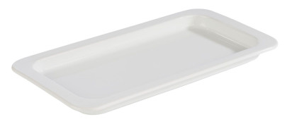 APS GN 1/3 Tablett aus Porzellan, 32,5 x 17,6 cm, Höhe 2,5 cm, Serviertablett, Servierplatte, weiß