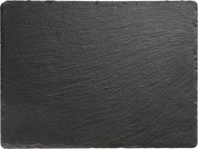 APS Naturschieferplatte, mit Antirutschfüßen, 26,5 x 20,5 cm, H: 0,5 cm