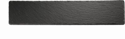 APS Naturschieferplatte, mit Antirutschfüßen, 47 x 10 cm, H: 0,5 cm