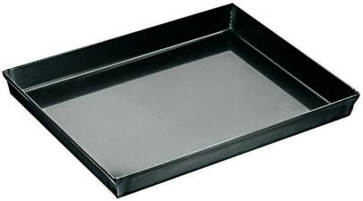 APS Pizzaform 60 x 40 cm, H: 2,5 cm Blaublech, Rand umgelegt nicht spülmaschinengeeignet Materialstärke 0,7 mm