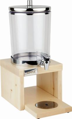 APS Saftdispenser WOOD -FRAMES-, 18/8 Edelstahl, SAN, 31 x 20 cm, H: 42 cm, 4 Liter