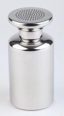 APS Salzstreuer mit Schraubdeckel/ Pommes Frites Streuer Edelstahl rostfrei Durchmesser 8 cm, Höhe 17 cm