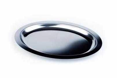 APS Servierplatte -Finesse- oval, ca. 42 x 30 cm Tiefe 24 mm, 1,3 Liter Edelstahl extra tiefe Ausführung