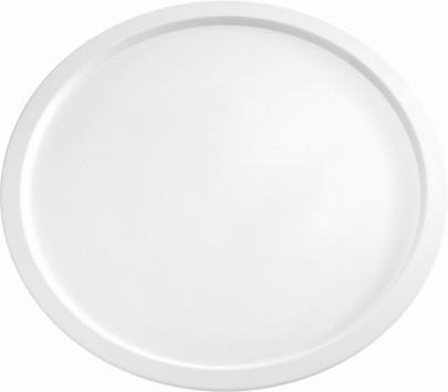 APS Servierplatte -PURE- Durchmesser 38 cm, H: 2 cm Melamin, weiß spülmaschinenfest nicht mikrowellengeeignet