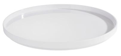 APS Tablett -ASIA PLUS- aus Melamin, Ø 38 cm, Höhe 3 cm, innen: weiß, glänzend, runde/s Serviertablett, Servierplatte