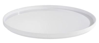 APS Tablett -ASIA PLUS- aus Melamin, Ø 48,5 cm, Höhe 3 cm, innen: weiß, glänzend, runde/s Serviertablett, Servierplatte