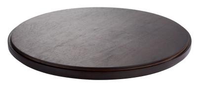 APS Zwischenplatte -ASIA PLUS- aus Holz, Ø 38 cm, Höhe 2,5 cm, dunkel, doppelt gefälzt, edle Optik, Servierplatte, Serviertablett, Brotzeitplatte
