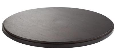 APS Zwischenplatte -ASIA PLUS- aus Holz, Ø 48,5 cm, Höhe 2,5 cm,, dunkel, doppelt gefälzt, edle Optik, Servierplatte, Serviertablett, Brotzeitplatte