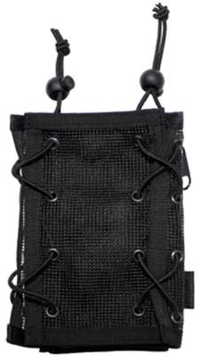 Armtasche, schwarz, Geld- und Kartenfach