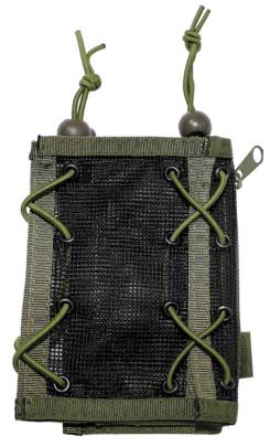 Armtasche, oliv, Geld- und Kartenfach