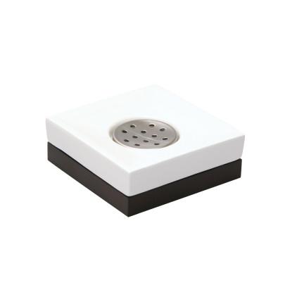 AXENTIA Badserie Ginella Seifenschale Keramik weiß