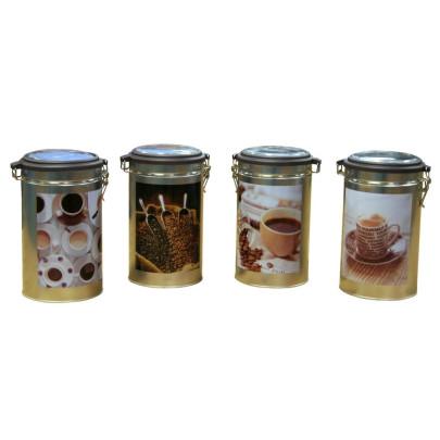 AXENTIA Kaffeedose Metall 11 x 20 cm sortierte Dekore