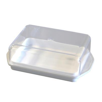 AXENTIA Kühlschrank-Butterdose weiß, Deckel transparent