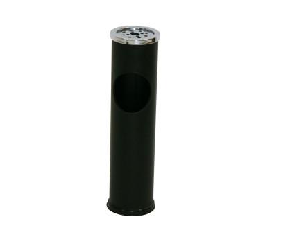 AXENTIA Standabfallbehälter mit Aschenbecher schwarz 15 cm rund Höhe 57cm