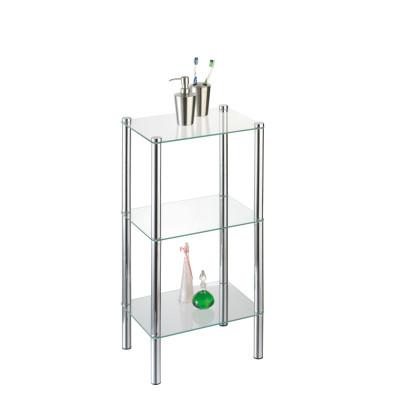 AXENTIA Standregal Solanio mit 3 Glasböden 40 x 30 x 77cm Vorgänger 280650