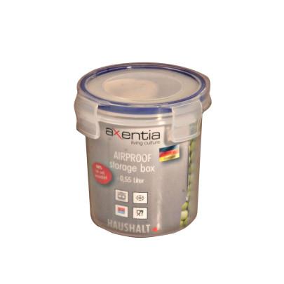 AXENTIA Airproof Vorratsdose Aufbewahrungsbox, Frischhaltedose, Multifunktionsbox transparent, 0,55 Liter Ø 10 cm, Höhe 11,5 cm Anzahl: 1 Stück