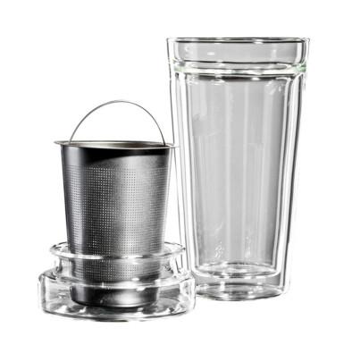 bloomix 3 teiliges Teeglas-Set Tea Time doppelw...