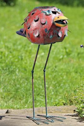 Blumentopf, Pflanztopf in Vogel Form aus Eisen ...