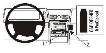 Brodit Proclip passend für Lincoln Navigator, 0...