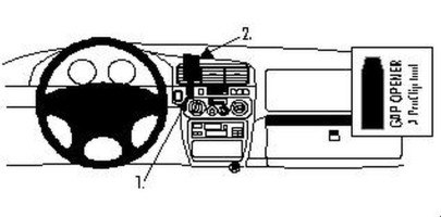 Brodit Proclip passend für Opel Monterey, 97-05...