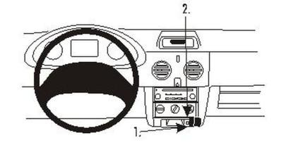 Brodit Proclip passend für Renault Kangoo, 03-0...
