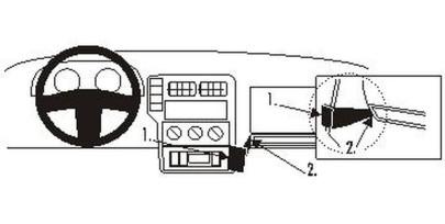Brodit Proclip passend für Volkswagen Caddy Van, Combi 01-05 Konsole Mitte