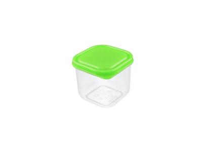Buchsteiner Freshbox mit 350 ml Fassungsvermögen, quadratisch, aus Kunststoff, blau und grün, farbig sortiert