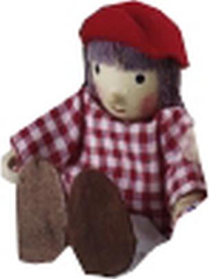 Caritas Holzpuppe Figur Fritz für das Puppenhau...
