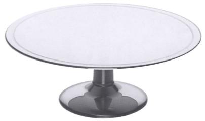 Contacto Edelstahl Kuchenplatte mit Fuß, Höhe und Durchmesser wählbar