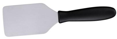Contacto Edelstahl Kurzpalette ORION 24 cm mit schwarzem Polyamid-Griff
