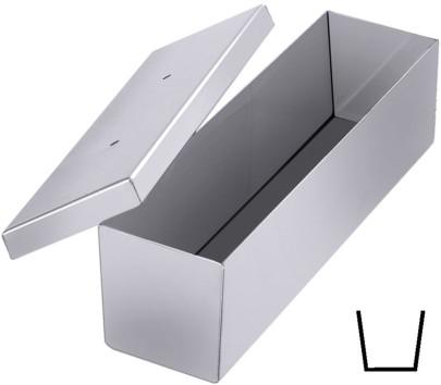 Contacto Edelstahl Pasteten-/Brotkastenform 30 x 9 x 7 cm, mit Deckel