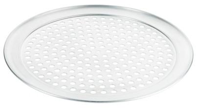Contacto Gelochtes Pizzablech 33,5 cm, Aluminium, 10 mm Lochdurchmesser, Backblech